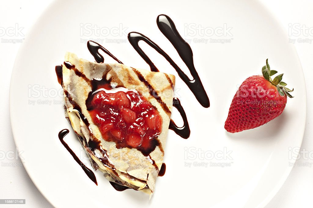 Delicious french crepe royalty-free stock photo