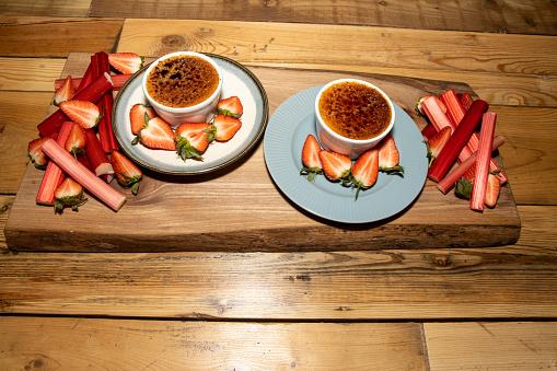Traditional spanish dessert, crema catalana