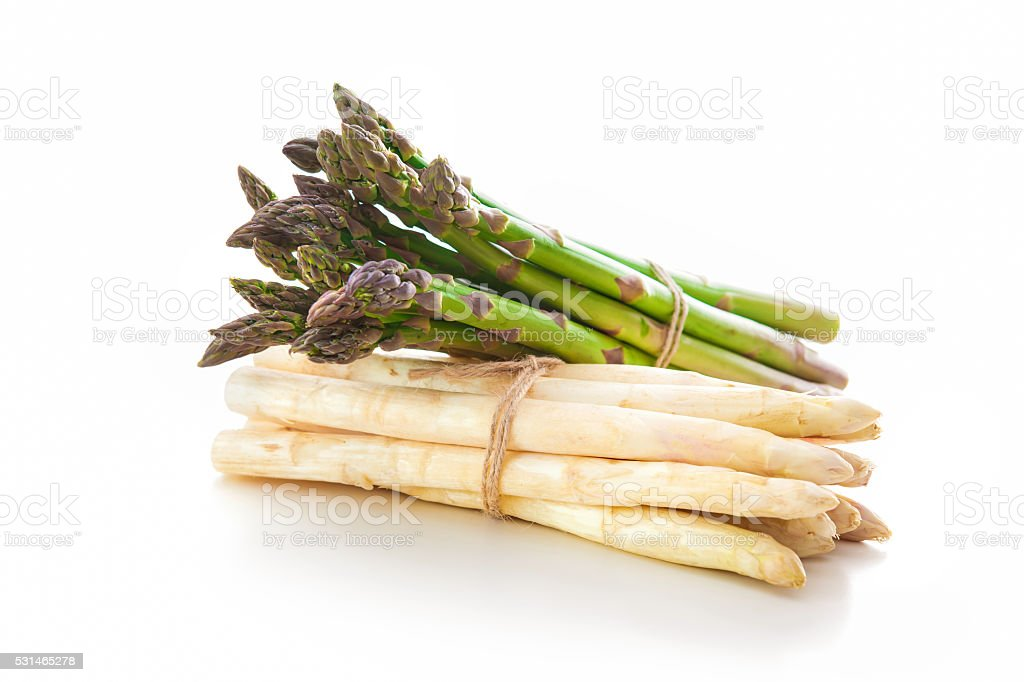 Delicious fresh asparagus stock photo