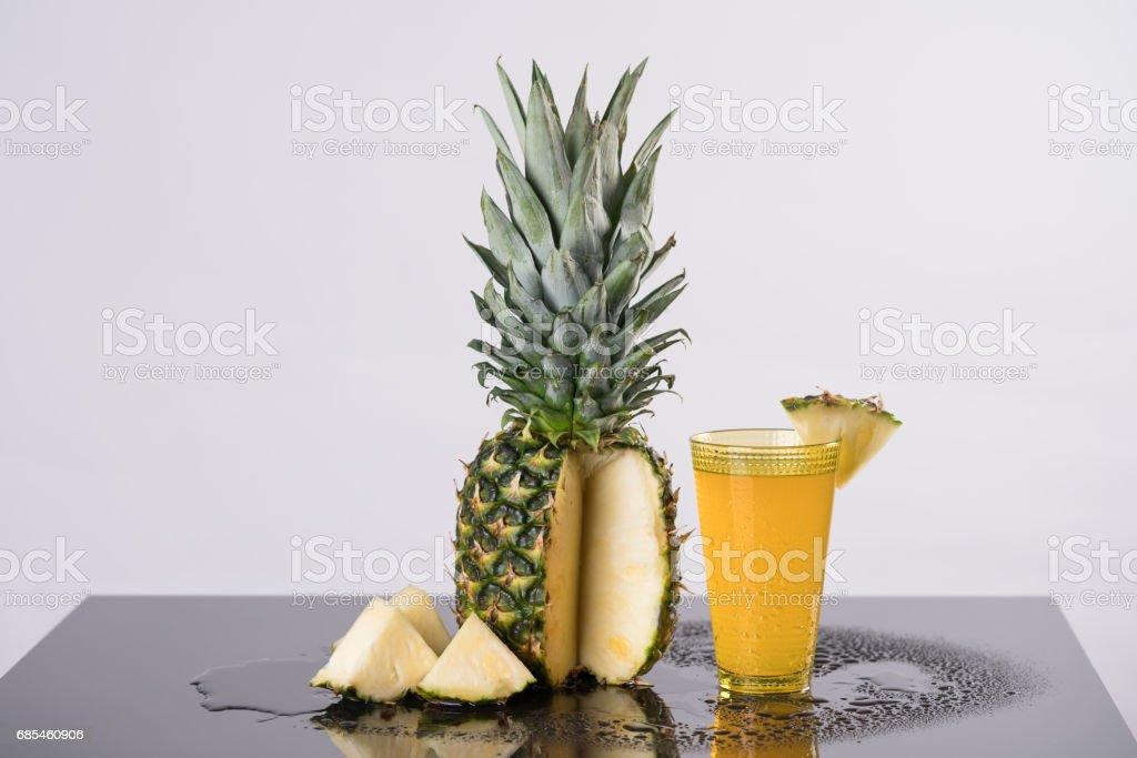 Delicious fresh green  pinapple foto de stock royalty-free