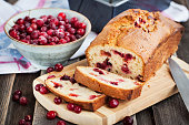 istock Delicious fresh homemade cranberry loaf 472280614