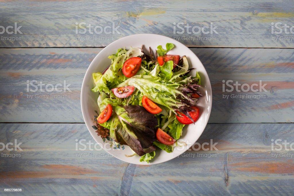 Delicious Fresh Mediterranean Salad foto de stock royalty-free