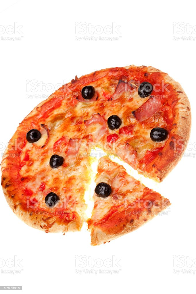 Delicious fresh pizza royalty-free stock photo