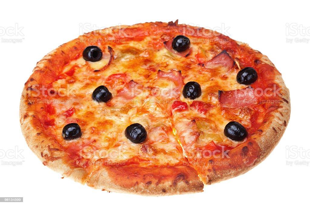 Delicious fresh pizza royalty-free stock photo