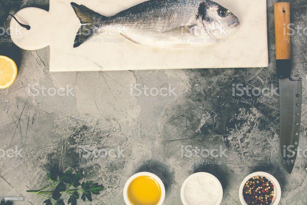 Köstliche frische Meerbrasse Fisch - Lizenzfrei Belgien Stock-Foto