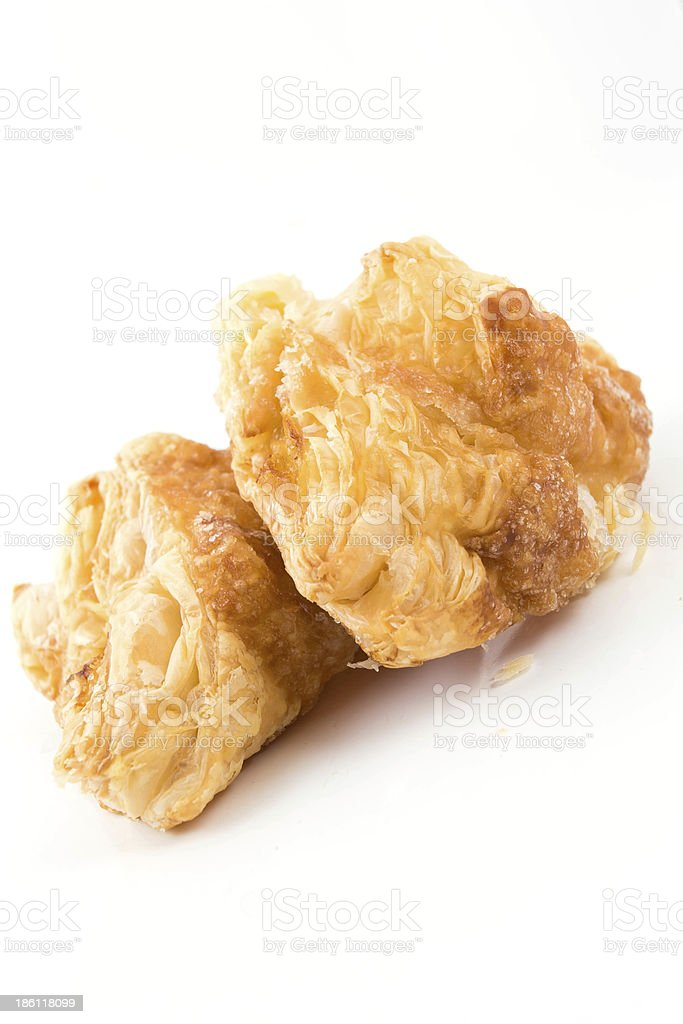 Delicious freshly baked pies stock photo