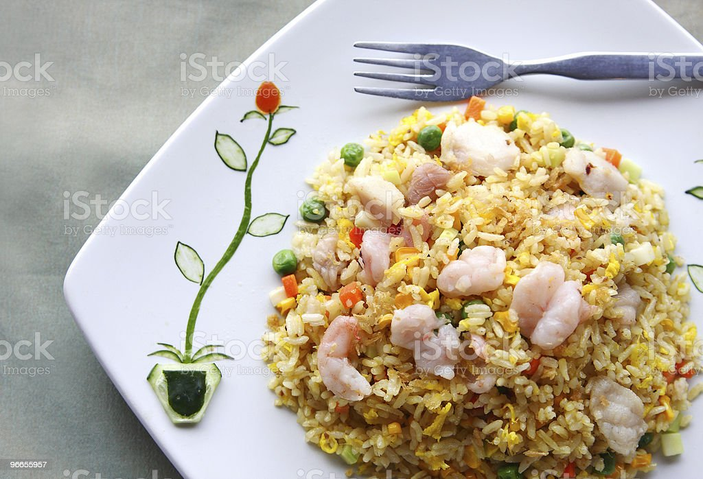 Delicious fried rice royalty-free stock photo