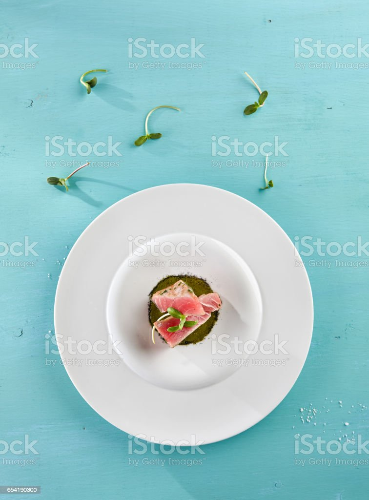 Delicious Fried Tuna Fillet stock photo