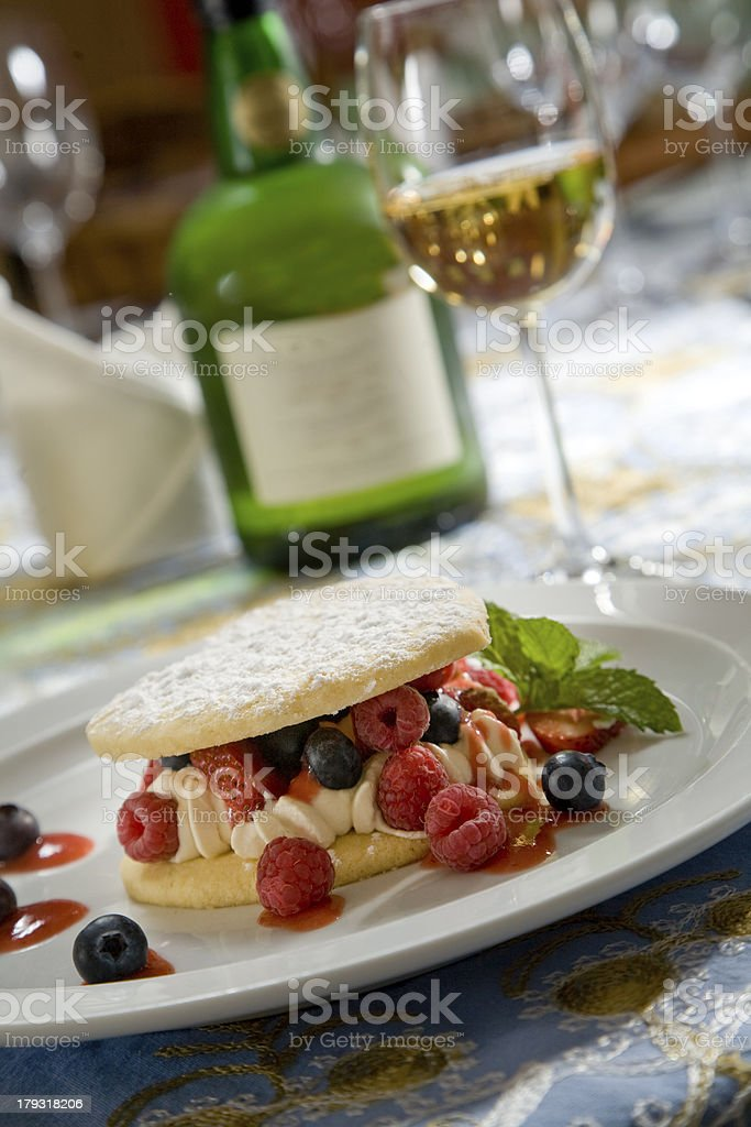 Delicious Fruit Dessert royalty-free stock photo