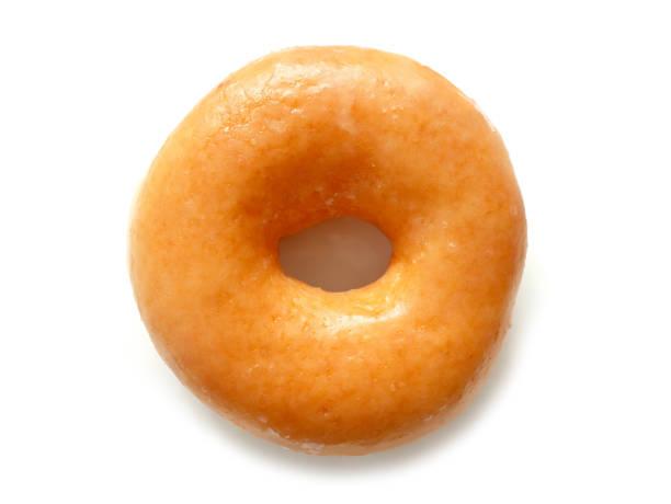 heerlijke geglazuurde donut - geglazuurd stockfoto's en -beelden