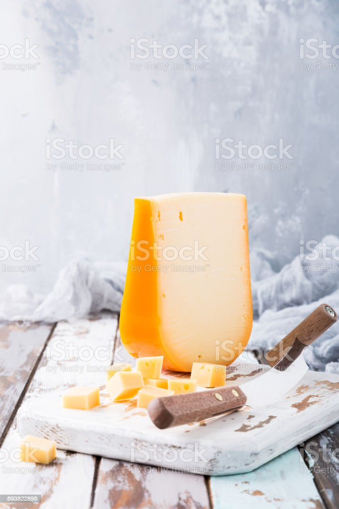 Delicious Gouda cheese stock photo