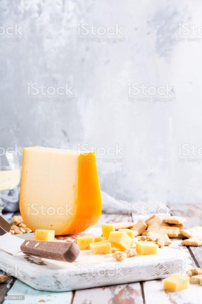 Delicious Gouda cheese stock photo