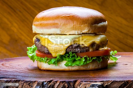 Delicious gourmet hamburger