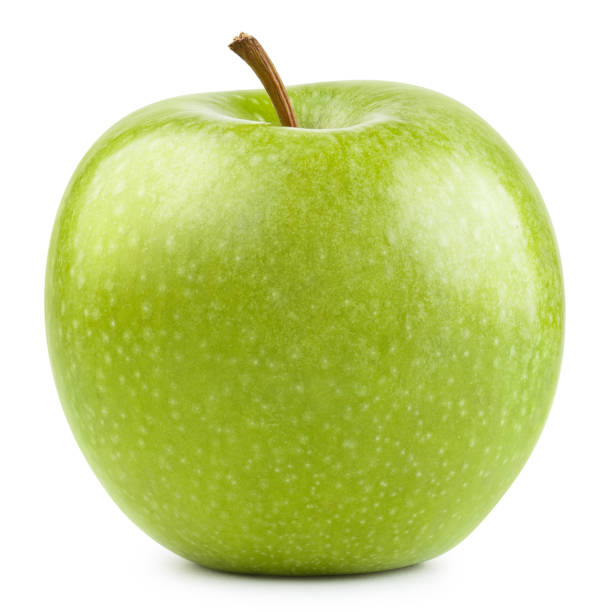 Delicious green apple on white Delicious green apple, isolated on white background granny smith apple stock pictures, royalty-free photos & images