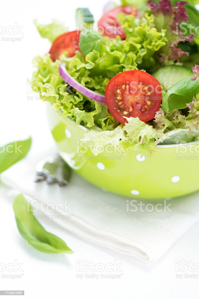 Delicious green salad royalty-free stock photo
