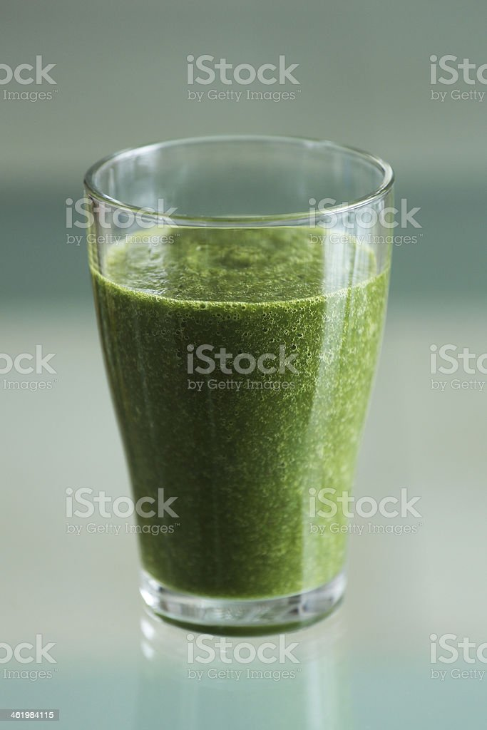 Delicious green smoothie stock photo