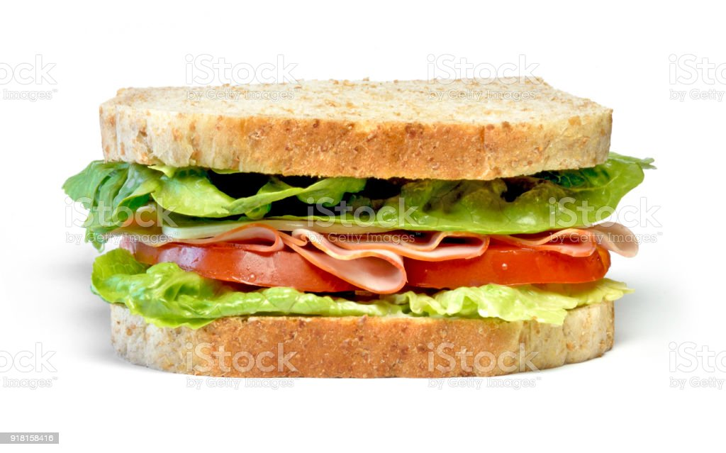 Delicious ham and cheese sandwich stock photo