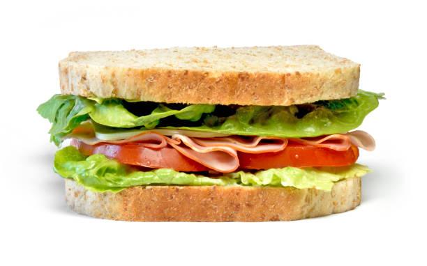 delicious ham and cheese sandwich - panino ripieno foto e immagini stock