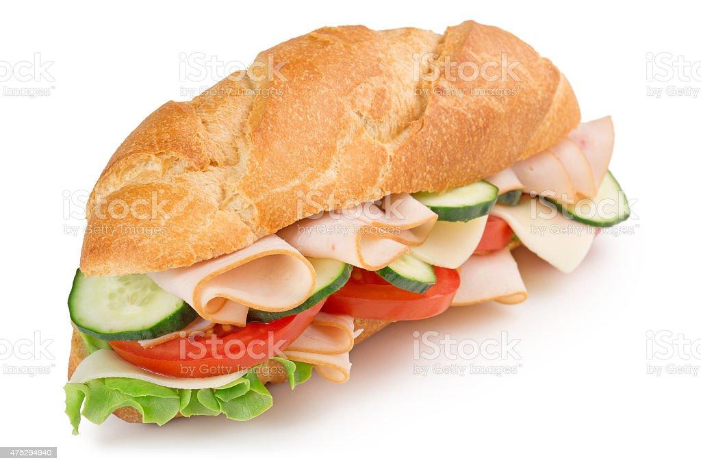 delicious ham sandwich stock photo