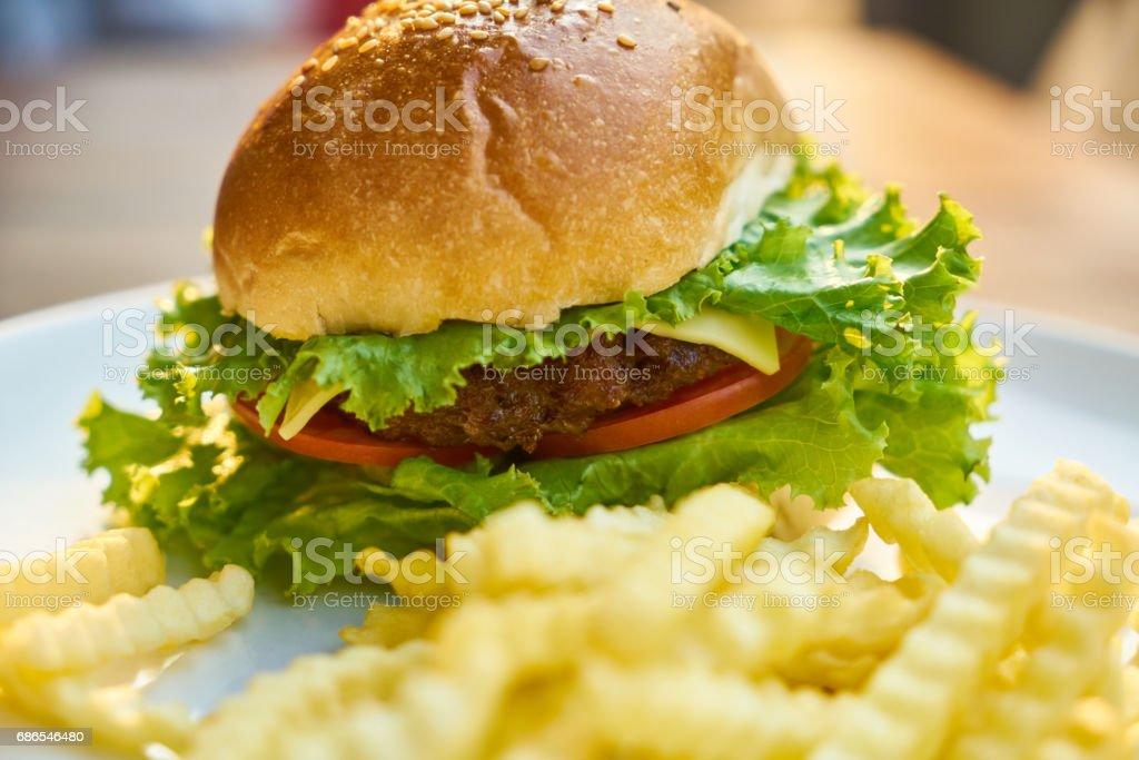 Delicious Hamburger foto stock royalty-free