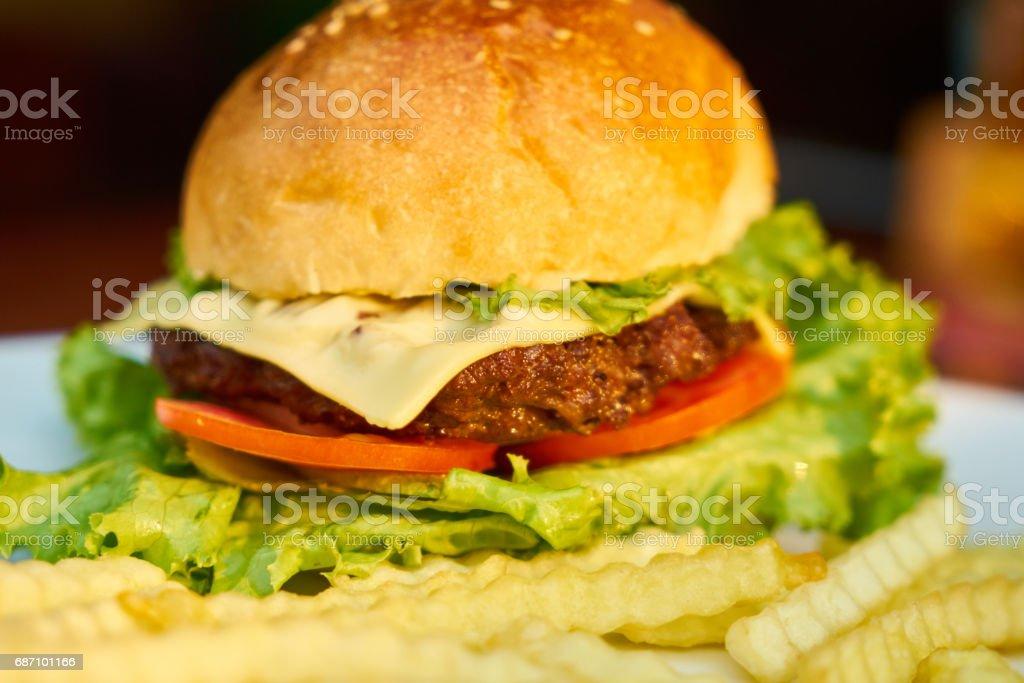 Delicious Hamburger Lizenzfreies stock-foto