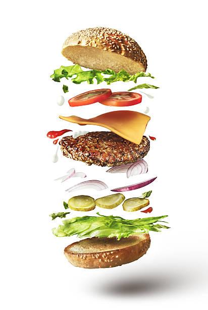Délicieux hamburger avec volant produits - Photo
