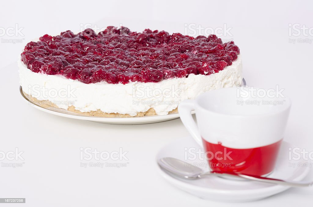 Delicious handmade cheese cake royalty-free stock photo