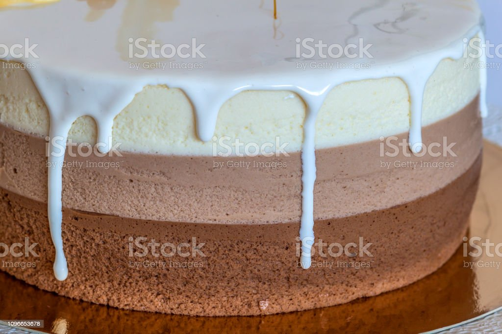 Wondrous Delicious Homemade Chocolate Marble Birthday Cake Decorated With Personalised Birthday Cards Akebfashionlily Jamesorg