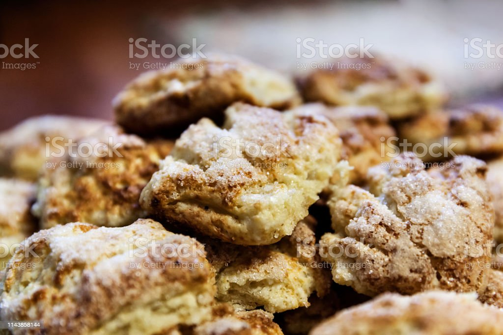 Delicious homemade cookies on the table stock photo