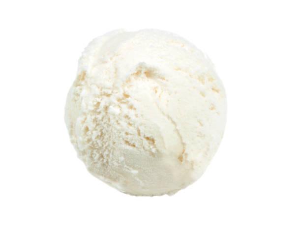 Colher de sorvete delicioso - foto de acervo