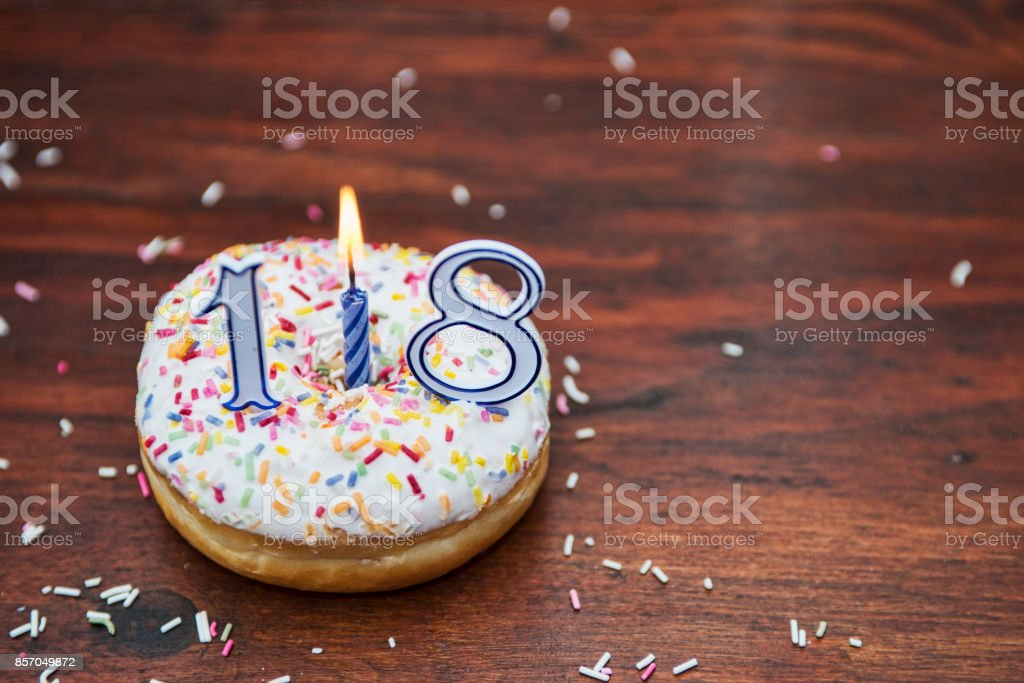 Delicious iced donuts stock photo