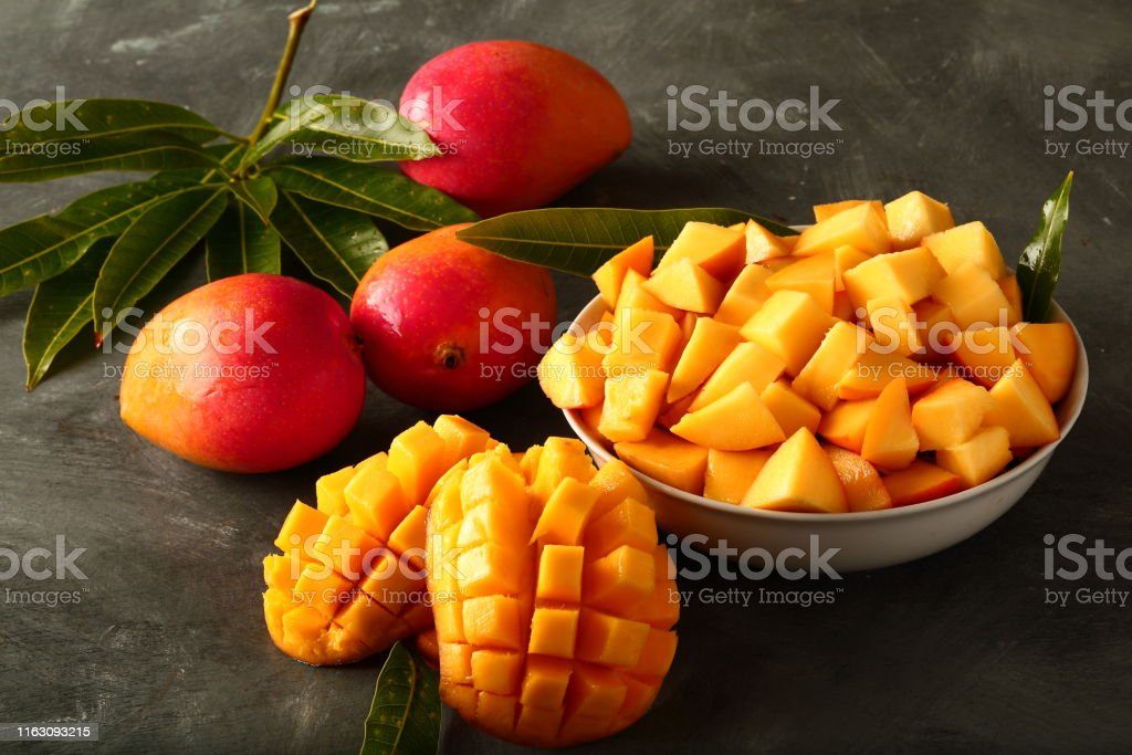 delicious indian alphonso mango fruit salad picture id1163093215