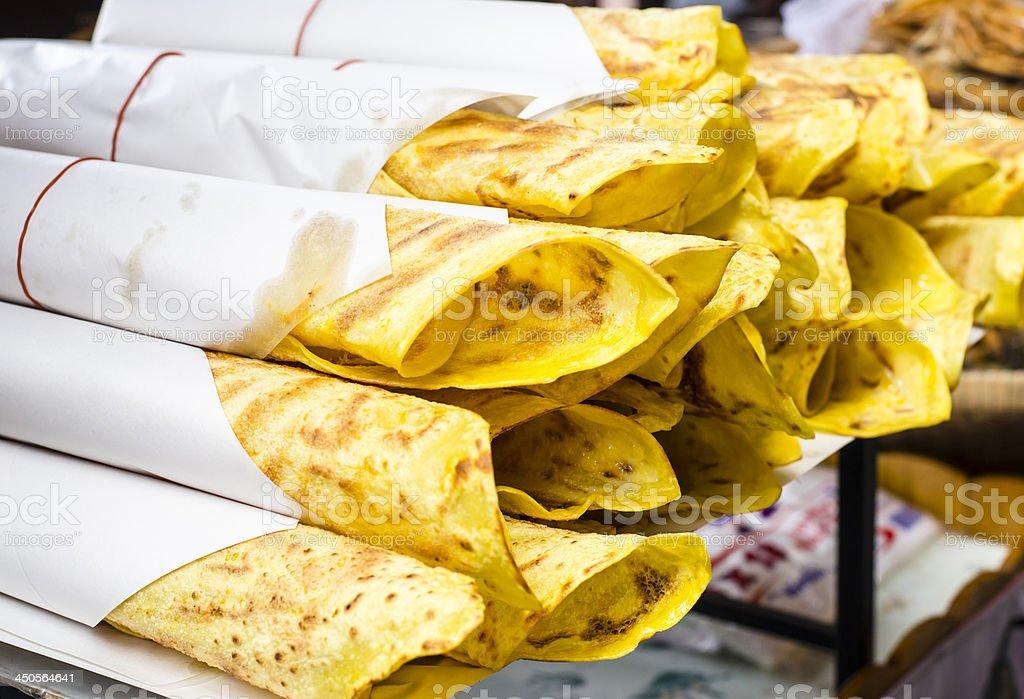 Delicious Indian Naan Bread stock photo