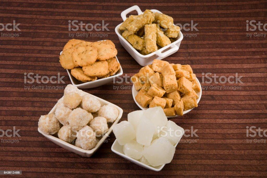 Delicious Indian Sweets Punjabi Bhaji stock photo