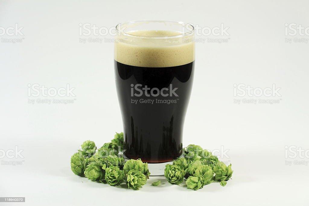 Delicious Irish Porter Beer Awaits St Patty's Day stock photo