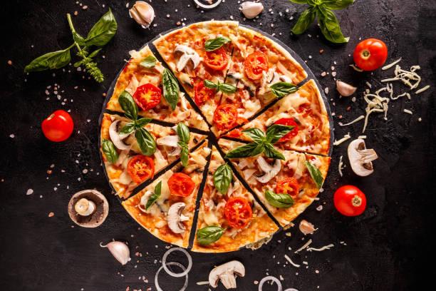 Delicious Italian pizza stock photo
