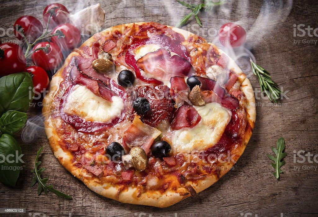 Delicious italian pizza royalty-free stock photo