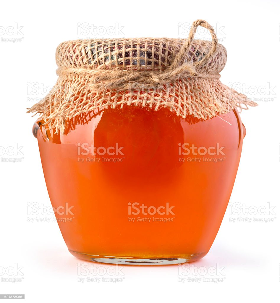 delicious jam in the pot isolated stock photo