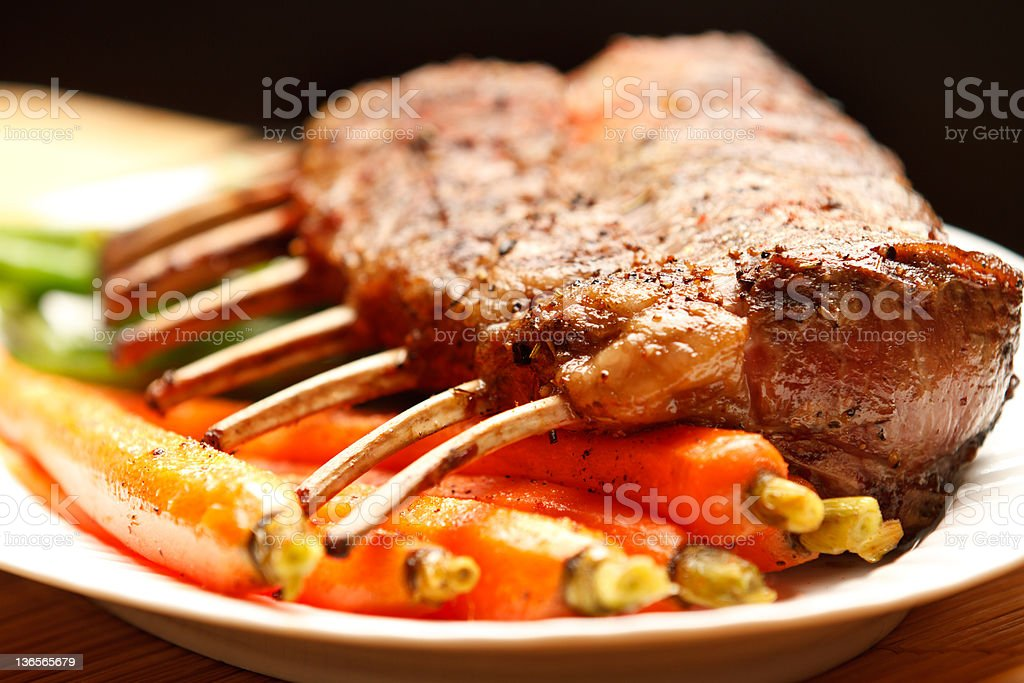 Delicious lamb chop dinner royalty-free stock photo