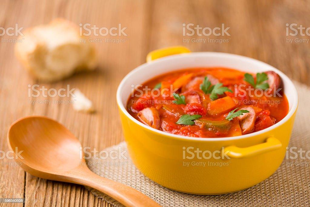 Köstliche Letscho mit frischem Gemüse. Lizenzfreies stock-foto