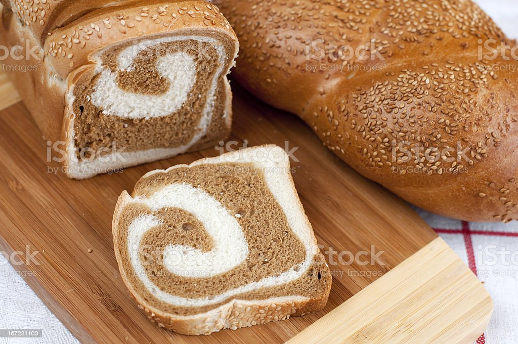 delicious loaf with sesame seeds. royalty-free stock photo