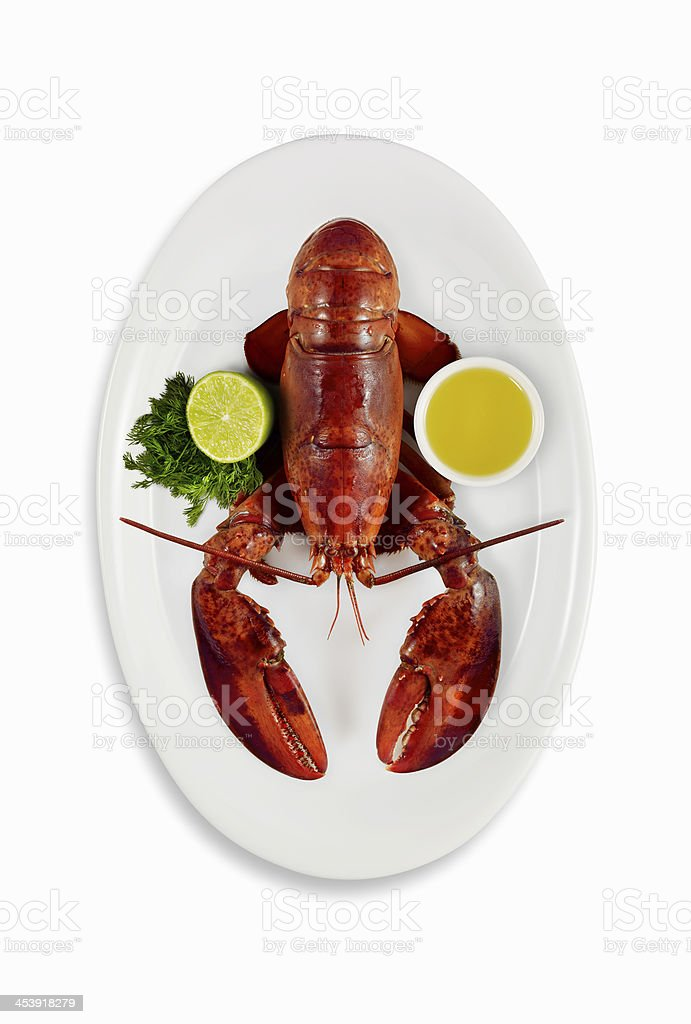 delicious lobster royalty-free stock photo