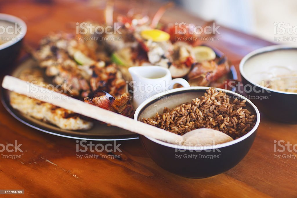 Delicious lunch royalty-free stock photo