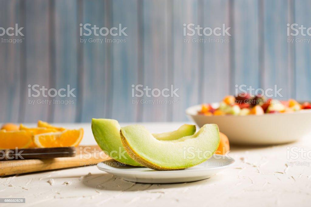 Delicious Melon Slices photo libre de droits