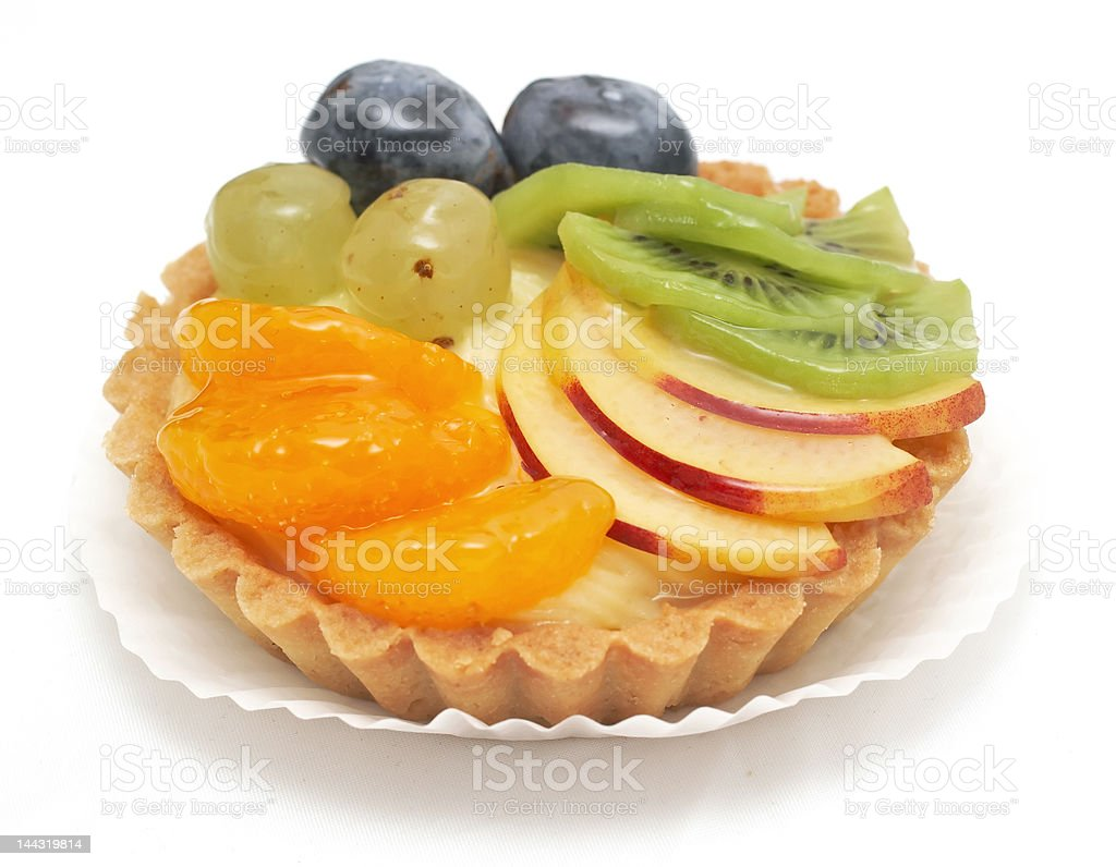 delicious mixed fruit tart royalty-free stock photo