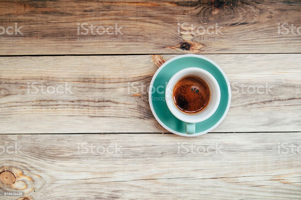 Delicious morning espresso coffee stock photo