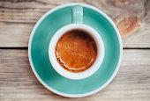 Delicious morning espresso coffee
