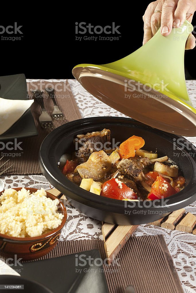 Delicious moroccan tajine royalty-free stock photo