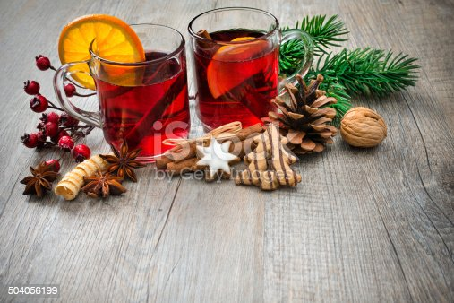 istock Delicious mulled wine 504056199