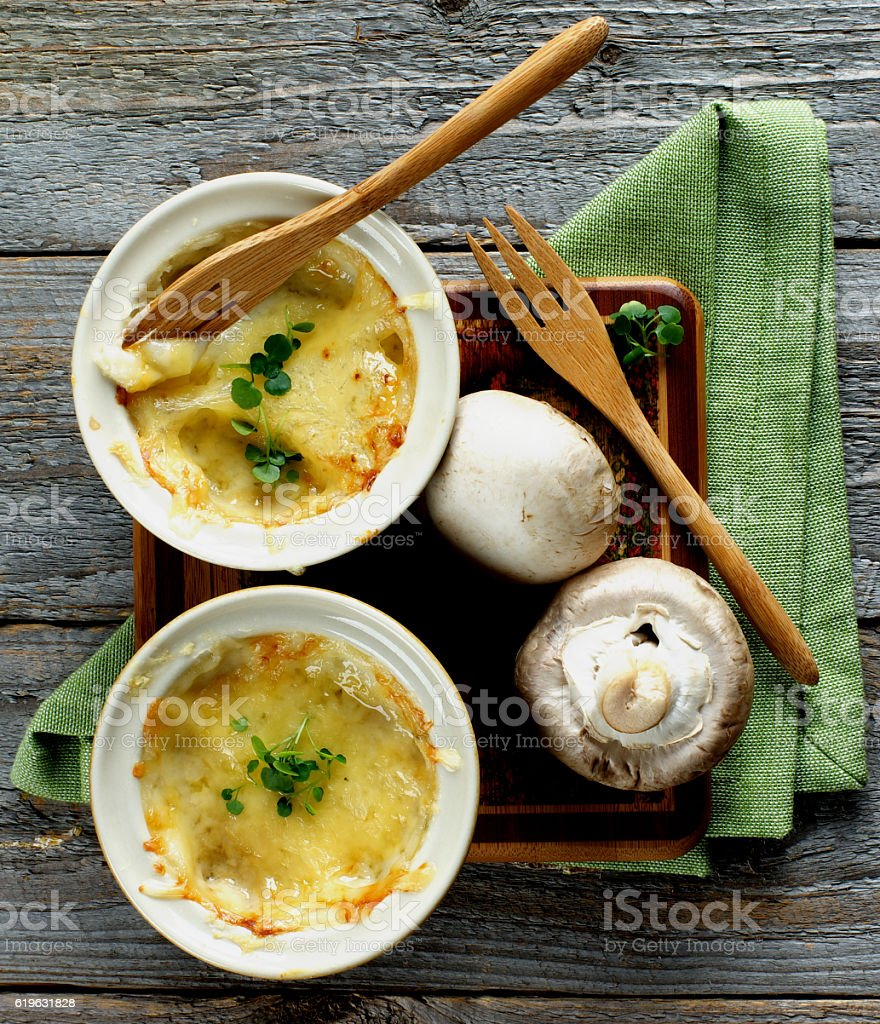 Delicious Mushroom Julienne stock photo